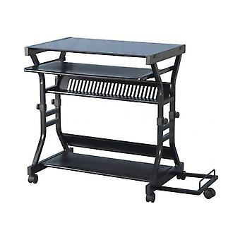Cori Computer Desk Black/black Glass