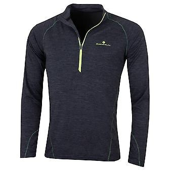 Ronhill Mens Stride Thermal LS 1/2 Zip T-Shirt