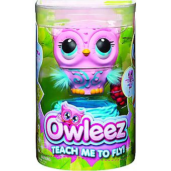 Owleez Flying Baby Owl Interactive Toy with Lights and Sounds for Children Age 6+ 6053359 Pink