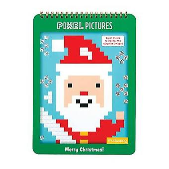 Merry Christmas Pixel Pictures by Created by MUDPUPPY & Illustrated by Jillian Phillips