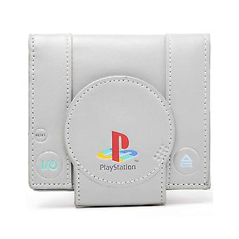 Playstation Wallet Shaped vintage retro new Official grey Bifold