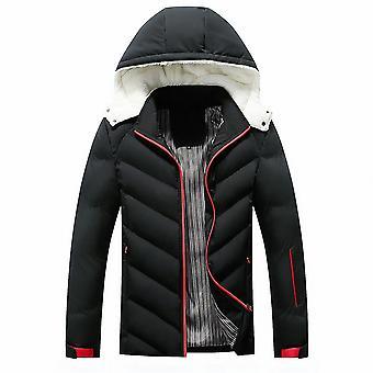 Allthemen Men's Solid Hodded Thicken Coat Winter Warm Slim Fit Outwear Hoodies