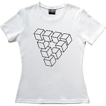 Penrose Triangle Blanco Mujeres's Camiseta