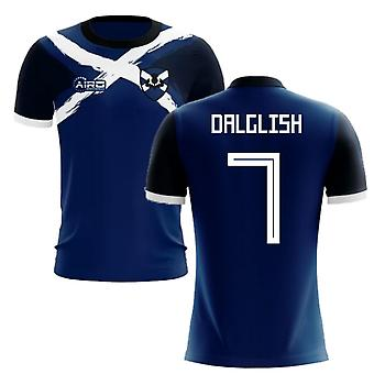 2020-2021 Scotland Flag Concept Football Shirt (Dalglish 7)