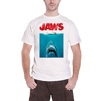 Jaws T Shirt Poster Swimming Movie Logo new Official Mens White