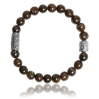Lauren Steven Design ML053 Bracelet - Bronze Men's Natural Stone Bracelet