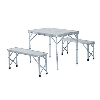 Outsunny Folding Table Chairs Picnic Portable Camping Dining Garden Patio BBQ Aluminium