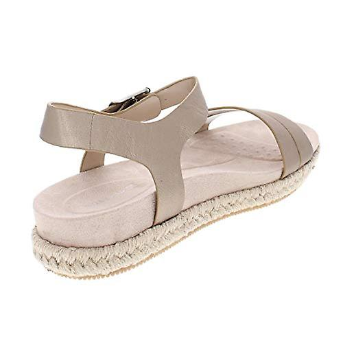 Easy Spirit Womens Ixia Metallic Leather Espadrilles Bronze 7 Medium (B,M)