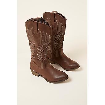 Women's Brown Mustang Boots 183463
