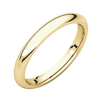 14k Yellow Gold 2.5mm Polished Comfort Fit Band Ring Jewelry Gifts for Women - Ring Size: 5 to 9