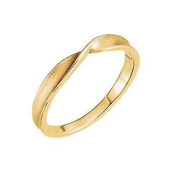 14k Yellow Gold Polished Twisted Stackable Ring Size 6.5 Jewelry Gifts for Women - 2.7 Grams