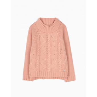 Zippy Sweater Knit Mel Rose