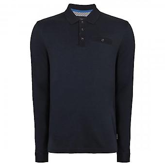 Ted Baker Skelter LS Polo Shirt Navy