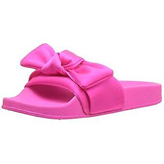 Steve Madden Girls' JSILKY Slide Sandal, hot Pink, 13 M US Little Kid