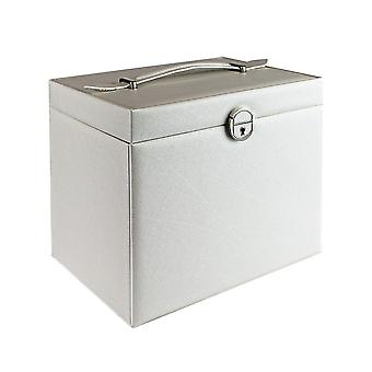 Lockable Jewelry Box 26 x 19 cm - White