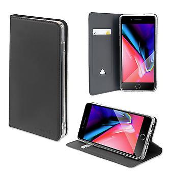 4smarts Flip-Tasche Wallet für Apple iPhone 8 / 7 Schwarz Hülle Etui Tasche Case