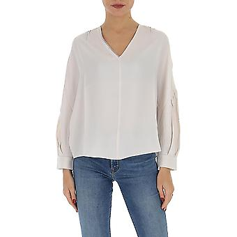 Fabiana Filippi Tpd260w781a5900104 Women's White Cotton Sweater