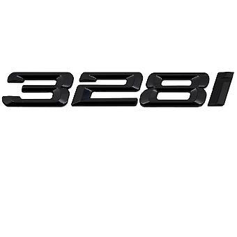 Gloss Black BMW 328i Car Badge Emblem Model Numbers Letters For 3 Series E36 E46 E90 E91 E92 E93 F30 F31 F34 G20