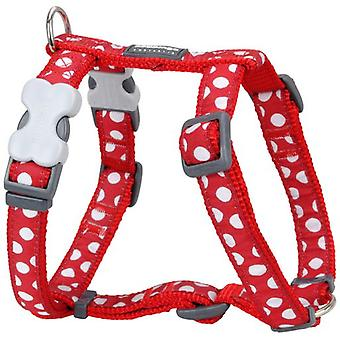 Red Dingo Harness One Touch Rdstyle Spots White