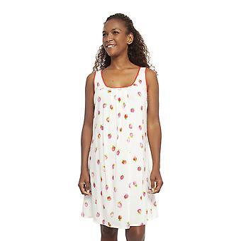 Cyberjammies 4455 Frauen's Sophia Creme aus weißen Erdbeere Print Baumwolle Chemise