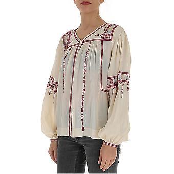 Isabel Marant ÉToile Ht164020p030e23ec Women's Beige Cotton Blouse