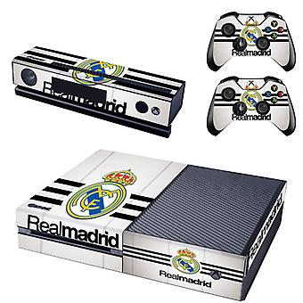 REYTID Console Skin / Sticker + 2 x Controller Decals & Kinect Wrap Compatible with Microsoft Xbox One - Full Set - Real Madrid Home