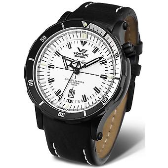 Vostok anchar submarine Automatic Analog Men's Watch with CowHide Bracelet NH35A-5104245