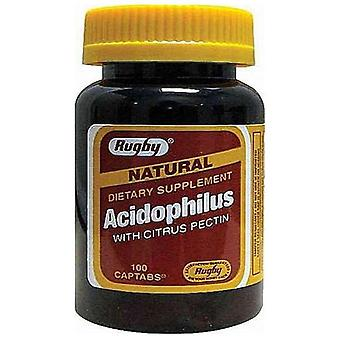 Rugby natural acidophilus with citrus pectin, captabs, 100 ea