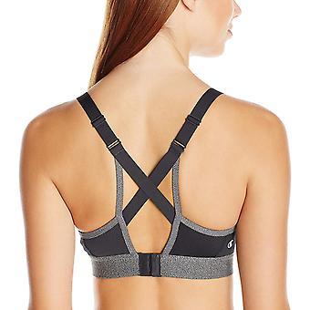 بطل المرأة & أبوس؛s متعرج Strappy الرياضة حمالة الصدر،، أسود / الجرانيت هيذر، الحجم المتوسط