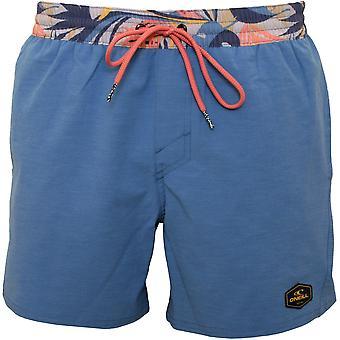 Pantalones cortos de baño con cintura de la isla de O'Neill, azul Walton