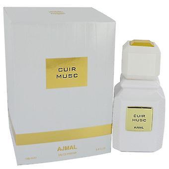Ajmal Cuir Musc Eau De Parfum Spray (Unisex) por Ajmal 3,4 oz Eau De Parfum Spray