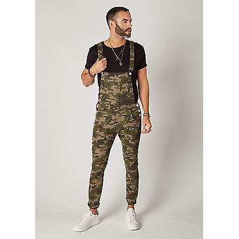 Burton mens skinny fit dungarees camouflage