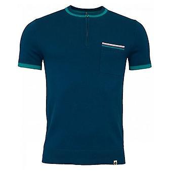 Pretty Green Wenn Gebreide Zip Neck T-shirt