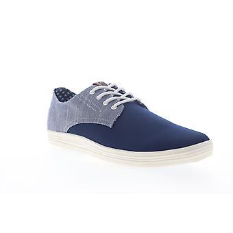 Ben Sherman Payton Oxford Mens Blå spets upp låg topp sneakers skor