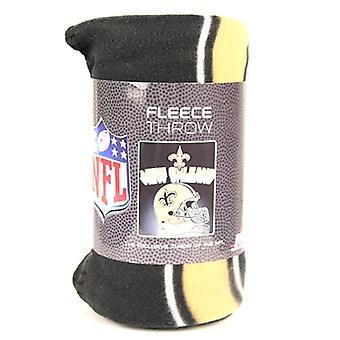 """New Orleans Saints NFL Northwest """"Mirror"""" Fleece Throw"""
