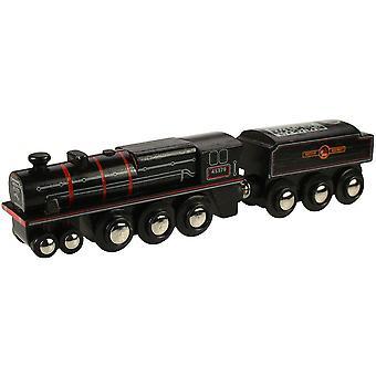 Bigjigs železniční dědictví sbírka černých 5 motorů