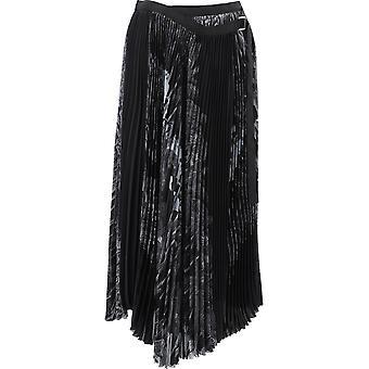 Sacai 20048351 Women's Black Polyester Skirt