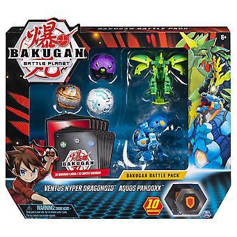 Bakugan Battle Pack 5-Pack Ventus Hyper Dragonoid & Aquos Pandoxx