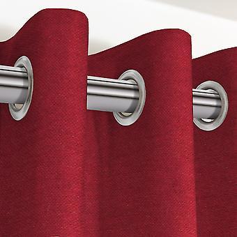 Panama plain red curtains