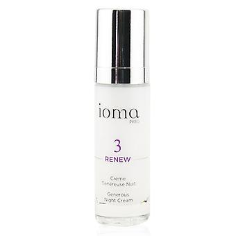 Ioma Renew - Generous Night Cream - 30ml/1oz