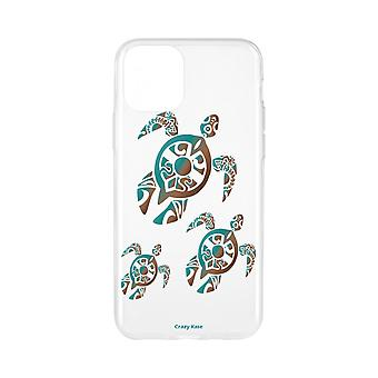 Casco para iPhone 11 Pro Max Patrón de familia suave Tortuga