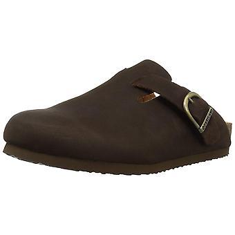 Eastland Womens Gina Leather Closed Toe Casual Slide Sandals