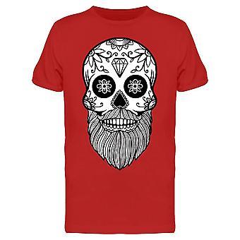 Meksikon Tribal Parrakas Skull Tee Men's -Kuva Shutterstock