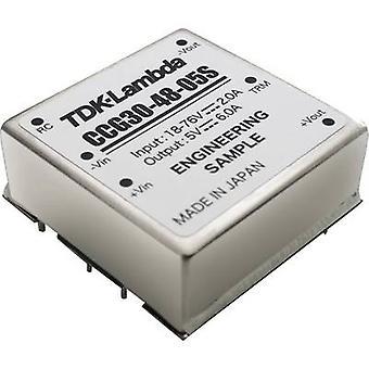 TDK-Lambda CCG-30-48-12D DC/DC -muunnin (tulostus) 24 V 1,25 A 30 W Ei. lähtöjen määrä: 1 x