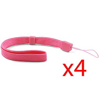 4x Pink Hand Wrist Strap For Wii Remote Controller - PSP - DSL - 3DS - DSi NEW