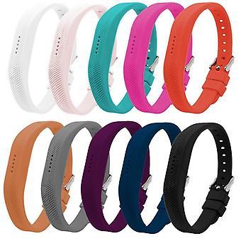 Ersatz Armband Armband Band für Fitbit Flex 2 klassische Schnalle[Klein, Gelb] kaufen 2 GET 1 FREE
