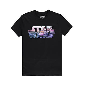Men's Star Wars Die mandalorianischen das Kind Logo T-Shirt