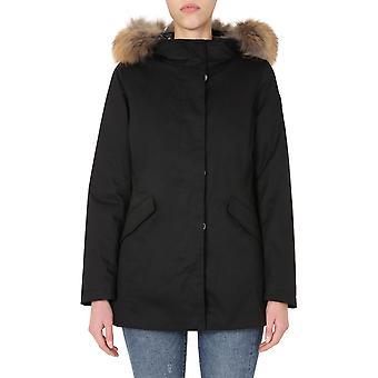 Woolrich Wwou0258frut1974100 Women's Black Cotton Outerwear Jacket