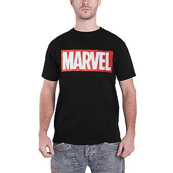 Marvel T Shirt classic Marvel Logo new Official Mens Black