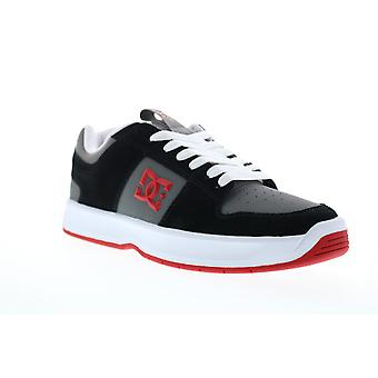 DC Lynx Zero  Mens Black Nubuck Leather Lace Up Skate Sneakers Shoes